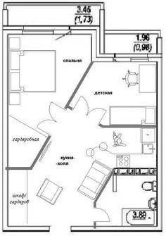 Apartment Layout, Apartment Plans, Apartment Interior, Apartment Design, Micro House Plans, Small House Plans, Plan Hotel, Architectural Floor Plans, Cabin Floor Plans
