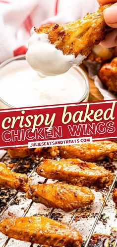 Give this easy recipe a try! Baked Chicken Wings are crispy, tender, and juicy. Seasoned with a homemade spice rub that is out of this world, this fun, delicious appetizer is sure to be a crowd-pleaser! Serve them at parties or make them for dinner! Pin this for later! Easy Holiday Recipes, Fall Recipes, Drink Recipes, Different Chicken Recipes, Chicken Wing Recipes, Thanksgiving Main Dishes, Crispy Baked Chicken Wings, Homemade Spices, Spice Rub
