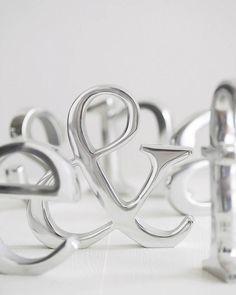 Aluminium Letters | The Letteroom | notonthehighstreet.com | £20   H15cm: S H18cm: J H21cm: &