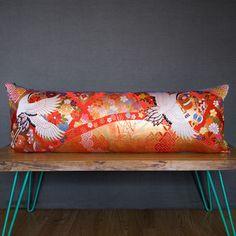 Upcycled Luxury Vintage Silk Brocade Kimono Cushion