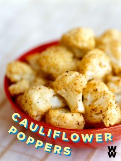 These cauliflower poppers are great as a side dish or as a snack AND they're 0 PointsPlus value. An unbeatable combo of flavor, texture and spice. Relax on the couch and watch the game with a bowl of these healthy bites.