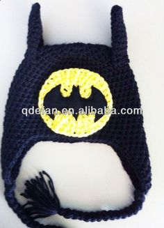 Free Batman Beanie Crochet Pattern   batman baby crochet hatcaps acrylic beanie MINIONS, View crochet ...