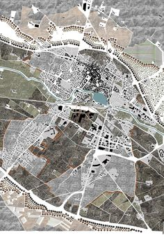 https://flic.kr/p/pbQz3D | Urban planning project for the town of Castelnaudary (France). The theme was, how to link the city with a new environment; a wild nature? | from The Architectural Review Drawings Blog ift.tt/WUyxSz