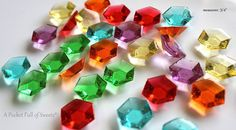 This listing is for 50 pcs of candy Jewels in the 6 assorted colors to resemble rupees. If you dont want all 6 colors, you may request the