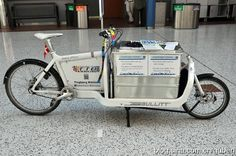 Library bicycle in IFLA 2012. Photo by Mr. Ben Gu.