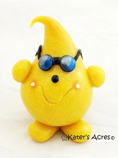 Now you too can take VACATION PARKER© with Sunglasses on YOUR Vacation.  Parker is a polymer clay character designed by KatersAcres®