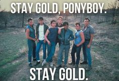 The Outsiders  Crying on inside Dally, pony boy the whole gang I love em