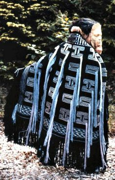 """""""Midwinter Robe,"""" now in the University of Alaska, Juneau; a beautiful example of Ravenstail Weaving.  Join us in Victoria, B.C. in 2013 to learn this nearly lost art!"""