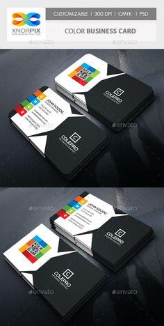Color Business Card Template PSD #design Download: http://graphicriver.net/item/color-business-card/14541072?ref=ksioks