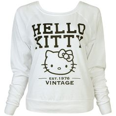 Vintage Hello Kitty Top ($16) ❤ liked on Polyvore