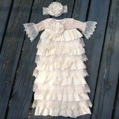 Infant dedication christening baptism going home take home gown layette gift baby girl baby shower on Etsy, $75.00