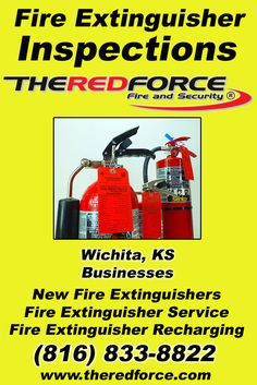 Fire Extinguisher Inspections Wichita, KS (816) 833-8822 Discover the Complete Source for Fire Protection Equipment and Service.. We're The Red Force Fire and Security!! Call us Today!