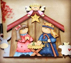 Cardboard Crafts, Wood Crafts, Fire Safety Crafts, Pintura Country, Holy Night, Tole Painting, Xmas, Christmas, Ideas Para