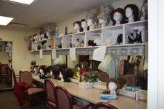 Wig and makeup room