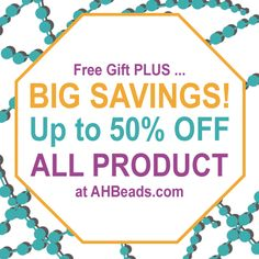 STOP RIGHT THERE! Big Bead Savings over at http://www.ahbeads.com get more beads, design more Jewelry! That's just how it works folks!