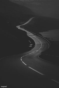 Download premium image of Scenic freeway by the lake in black and white by Luke Stackpoole about road, way, Black and white photos, journey, and black and white 2223853