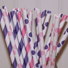 Princess Parties Paper Straws....♥