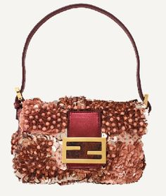 f48ba30b7103 Fendi Baguette - mini sequin bag