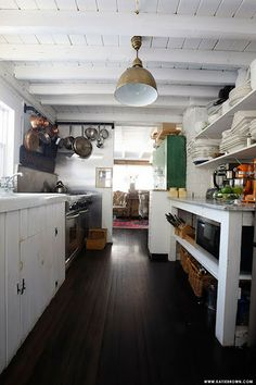 Vintage Farmhouse floor and ceiling