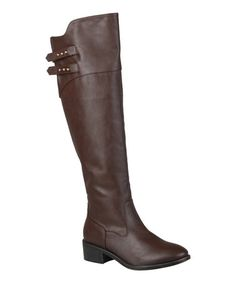 Look what I found on #zulily! Brown Lexi Wide-Calf Over-the-Knee Boot #zulilyfinds