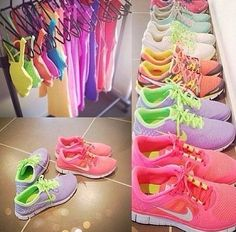 talk about dream closet for working out!