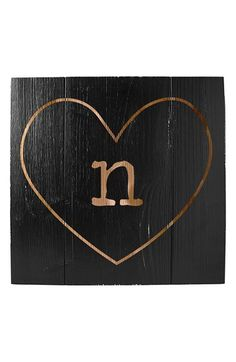 Cathy's Concepts 'Heart' Monogram Wood Wall Art