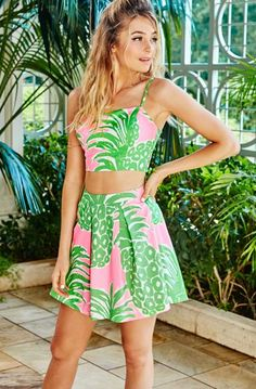 Lilly Pulitzer Parfait Crop Top & Skirt Set