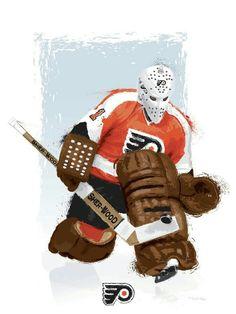Flyers Players, Flyers Hockey, Hockey Goalie, Ice Hockey, Nhl, Bernie Parent, Martin Brodeur, Hockey Pictures, Hockey Rules