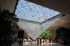 Pyramid, Louvre addition, Paris, 1983-89. I.M. Pei, architect.