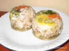 Uwielbiam.pl - przepis na Mięsna galaretka Polish Recipes, Polish Food, Turkey, Eggs, Dishes, Meat, Chicken, Medusa, Breakfast