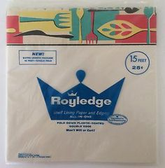 2 Packages of New Vintage Royaledge Shelf Liner Lining Paper and Edging 30' | eBay