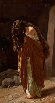 achillesaesthetic:  aesthetic—pleasures:  Antonio Ciseri, Maddalena, c.1870.