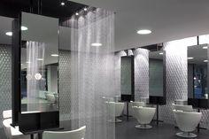 I love the sheer panel. salon design new | ... – Hair Expo Best New Salon Design Finalist | ProHairStylist.com.au