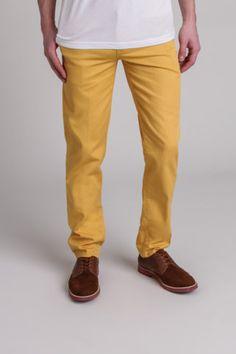 Classic yellow chino pant