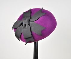 1950s Grape Crush Pillbox Hat.