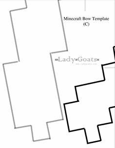 Ladygoats Minecraft Bow & Arrow Template