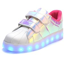 2017 Hot New Spring autumn Kids Sneakers Fashion Luminous Lighted Colorful LED lights Children Shoes Casual Flat Boy girl Shoes