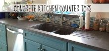 Concrete Kitchen Counter Tops