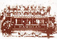 Tranvía de la línea Barcelona- Gracia (1872)