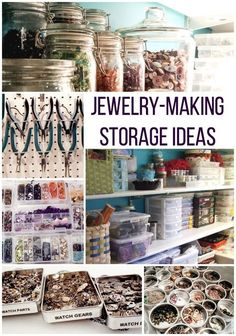 Below are the And Easy Jewelry Organization Ideas. This post about And Easy Jewelry Organization Ideas was posted under the … Bead Organization, Bead Storage, Craft Room Storage, Jewellery Storage, Jewellery Display, Storage Ideas, Craft Rooms, Jewellery Shops, Gold Jewellery