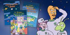 New York Fed's Educational Comic Book Series - FEDERAL RESERVE BANK of NEW YORK Federal Reserve System, Economics Lessons, A Dime, In High School, Teacher Resources, Book Series, Social Studies, Homeschool, Comic Books