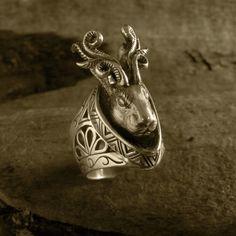 Animal Ring兎に角 silver 925 ジャッカロープ 制作者100歳の少年