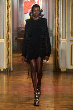 Fembois, Fashion Show Collection, High Fashion, Ready To Wear, Runway, Vogue, High Neck Dress, Model, How To Wear