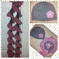 Set bufanda y gorro crochet