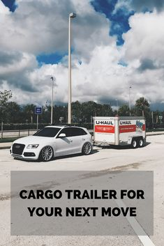Have an upcoming move to prepare for? Plan ahead with our lightweight and aerodynamic cargo trailer. Reserve yours today Moving Supplies, Packing Supplies, Moving Day, Moving Tips, Small Colleges, Best Gas Mileage, Car Trailer, How To Plan, Moving Hacks