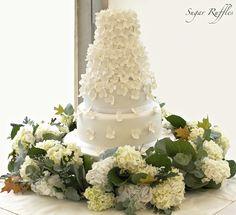 Sugar Ruffles, Elegant Wedding Cakes: Hydrangea Cascade Wedding Cake