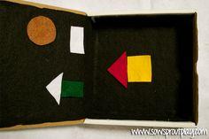 Mini Felt Board Busy Box 8 busy box ideas!