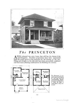 Maybe Your Foursquare House Is From A Catalog Foursquare House - Craftsman foursquare house plans