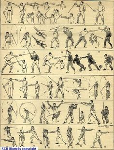 History of French boxing savate and cane weapon