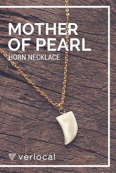 #mother of #pearl #horn #necklace #nautical #handmade